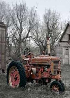Old Tractor On The Farm - this was Grandpa's first new tractor back in the 50's!