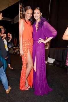 Cora Emmanuel & Liu Wen - J. Mendel Backstage