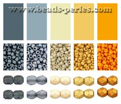 Bead Colour Palette - warm and cold tones- Combinaciones de color: Paleta 3 - Beads Perles Boutique