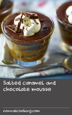 Easy and delicious. The perfect combo for whipping up something romantic in a hurry! Chocolate mousse is very easy to make and this version only needs an hour to chill before serving Chocolate Mousse Recipe, Chocolate Desserts, Chocolate Chocolate, No Bake Desserts, Dessert Recipes, Cupcakes, Pavlova, Sweet Recipes, Easy Recipes