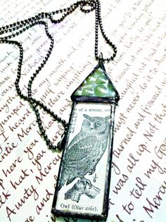 Owl House Stained Glass Soldered Pendant Necklace by Mystarrrs