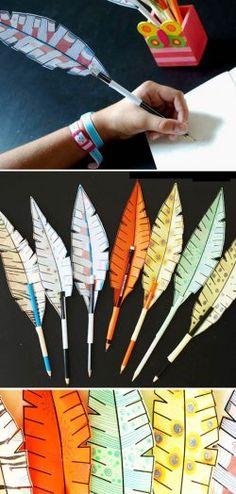 Kuş Tüyü Kalem Süsü Yapımı