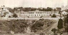 1931 - Belvedere Trianon. Posteriormente demolido para a construção do MASP - Museu de Arte de São Paulo. Nessa época não existiam os túneis da avenida 9 de julho, tampouco a própria avenida de mesmo nome.
