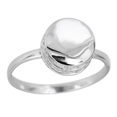 Decadence Sterling Silver Bold Round Shape Ring, Women's