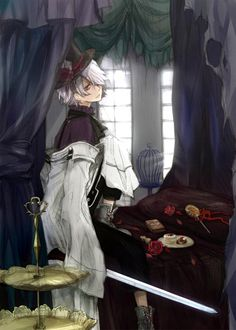 Tags: Anime, Curtain, Chocolate, Bed, Candy, Cake, SQUARE ENIX