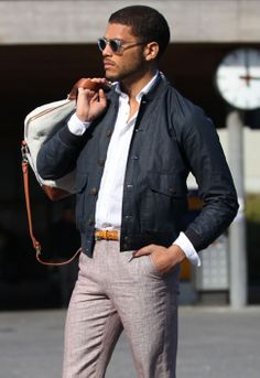 Shop by Look - Spring/Summer 2014 - Spring-Summer Bomber Jacket Isha Blaaker, Suit Supply, Gq, Dapper, Spring Summer Fashion, Outfit Of The Day, Mens Sunglasses, Bomber Jacket, Menswear