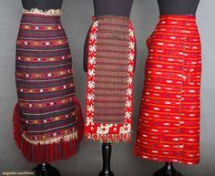 Three Woven Folk Aprons, 1875-1920, Augusta Auctions, November 13, 2013 - NYC, Lot 414