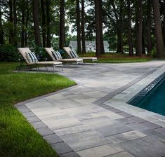 Lafitt Grana Slab pavers pair sleek contemporary style with modern durability and design innovation, giving every outdoor space a grand appearance. Backyard Patio, Backyard Ideas, Outdoor Ideas, Outdoor Decor, Stone Patio Designs, Pool Designs, Stone Walkway, Stone Path, Outdoor Life