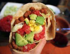 Oppskrift Vegan Vegetar Taco Bønnestuing Hjemmelaget Tacokrydder Vegetartaco Tex Mex, Tacos, Mexican, Nutrition, Dinner, Ethnic Recipes, Foods, Drinks, Vegans