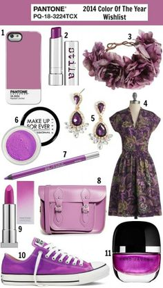 Pantone Color of the Year 2014: Radiant Orchid wishlist
