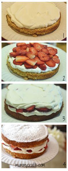 #DIY cómo montar el pastel victoria sponge cake paso a paso