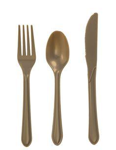 Gold Cutlery Set ~ http://lanewstalk.com/luxurious-cutlery-design/
