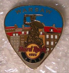 Hard Rock Cafe Warsaw 2012 Postcard Guitar Pick Series Pin Mint VHTF Le 100 | eBay