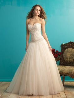 Cute Sweetheart A-Line Wedding Dress With A Chapel Train Need Only USD 289