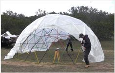 How To Build A Geodesic Dome | Greenhouse Plans & Outdoor Living Ideas For Gardening By DIY Ready. http://diyready.com/build-greenhouse-7-diy-greenhouses/