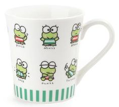 Share a smile every morning with this super sweet Keroppi coffee mug.