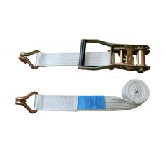 Heavy Duty White ratchet strap with claw hook 50mm wide 5000daN Series
