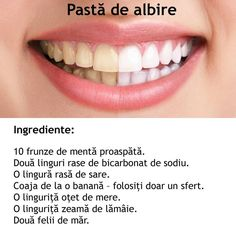Pasta pentru albire homemade Herbal Remedies, Beauty Secrets, Beauty Hacks, Face Health, Teeth Whitening, Beauty Care, Good To Know, Health And Beauty, Health And Wellness