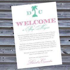 Welcome Bag Letters or Wedding Reception by DesignsByDVB on Etsy, $0.75