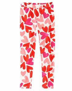 NWT Gymboree Valentine/'s Day Gray Heart Leggings Fun at heart Girls