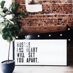 Monday Motivation  Hustle  Heart will set you apart  via @briannabodyfit  #ladyboss