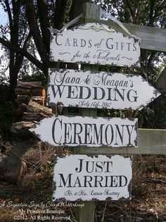Vintage Wedding Signs by My Primitive Boutique Vintage Wedding Signs, Romantic Wedding Decor, Rustic Wedding Centerpieces, Vintage Theme, Cute Wedding Ideas, Vintage Signs, Wedding Decorations, Wedding Stuff, Vintage Weddings