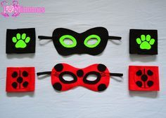 Kit Mascara e Bracelete Miraculous Ladybug E Catnoir, Ladybug Crafts, Miraculous Ladybug Party, Ladybug Costume, Felt Decorations, Cute Halloween Costumes, Christmas Gifts For Kids, Birthday Party Themes, Crafts For Kids