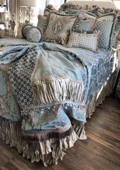 Old World Luxury Home Decor Bedding and Fine Furnishings Home Decor Bedding, Home Decor Furniture, Bedroom Decor, Boho Bedding, Luxury Home Decor, Luxury Homes, Royal Bedroom, Master Bedroom, Luxury Bedding