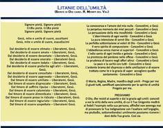 Il coraggio di guardare il cielo: LITANIE DELL'UMILTA' Event Ticket, Ss, Divine Mercy, Rosario, Sky, Pictures