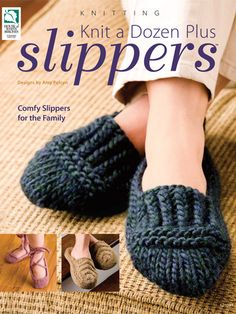 Provide your family and friends with warm, hand-knitted slippers using the designs you'll find in Knit a Dozen Plus Slippers. Create soft, cuddly slippers for the whole family with the 13 slipper projects you'll find in this knit pattern … Read More. Beginner Knitting Patterns, Knit Patterns, Knitting Projects, Knitting Tutorials, Stitch Patterns, Knitting Books, Loom Knitting, Free Knitting, Knifty Knitter