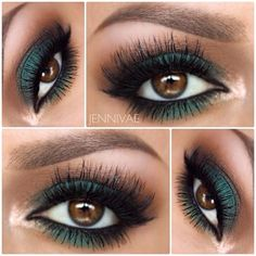 Bold and beautiful dark green to make brown eyes stand out
