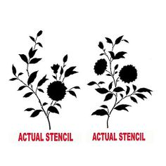 Cutting Edge Stencils - Blooming Branches Stencil kit 2pc