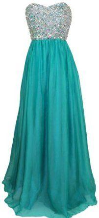 Meier Women's Strapless Beaded Formal Chiffon A-Line Gown
