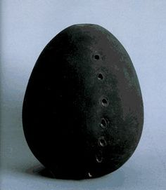 Lucio Fontana, Ceramic sculpture, 1965. (Italian, 1899-1968). Arte povera movement