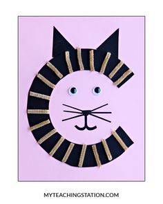 No cuter cat! This cat is a great craft to add to any Letter of the Week unit!