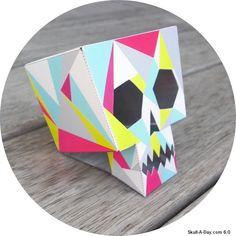 Skull-A-Day: DIY Paper Skull