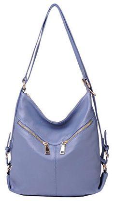 080aeaf8a8 Purses · Heshe Fashion Soft Genuine Leather Backpack Shoulder Travelling Bag  Handbag Cow Leather