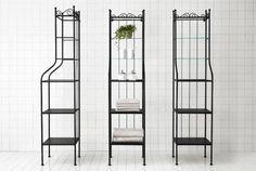 IKEA Badezimmermöbel, z. B. RÖNNSKÄR Regal in Schwarz