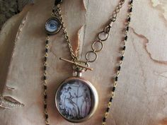 Victorian mourning necklace lovers eye by madonnaenchanted on Etsy
