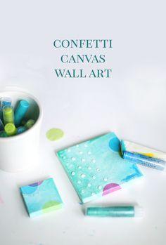 DIY Confetti Canvas
