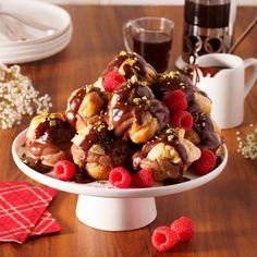 Profiteroles, crème pâtissière au chocolat et crème irlandaise - Recettes - Cuisine et nutrition - Pratico Pratique