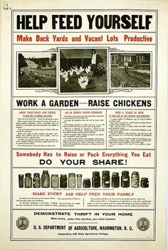 "1917 USDA Poster - ""Make saving, rather than spending, your social standard"""