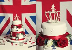 Great cake from a UK wedding which I just lurrrve! Army Wedding Cakes, Blue Wedding, Wedding Reception, Mystery Dinner Party, British Wedding, Military Wedding, Wedding Cakes With Flowers, Red White Blue, Projects For Kids