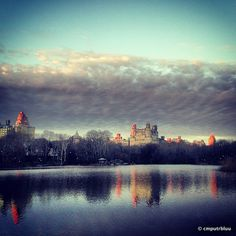 Lake Sunset / Central Park by cmputrbluu, via Flickr #iPhoneography