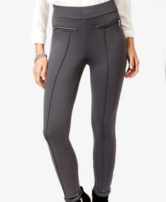 $19.80 Ponte Knit Skinny Pants | FOREVER21 - 2017306215