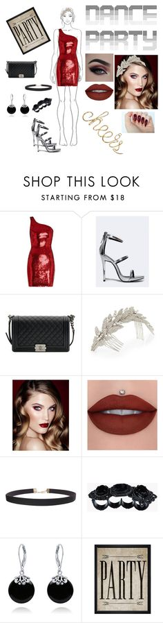 """""""Dance party"""" by racheljohnson1226 ❤ liked on Polyvore featuring Yves Saint Laurent, Qupid, Chanel, Jennifer Behr, Charlotte Tilbury, Humble Chic, Dsquared2, Bling Jewelry and Hatcher & Ethan"""