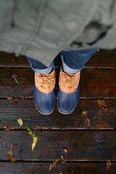 Who knew duck boots could be so sexy? I just ordered my very authentic pair from LL Bean.