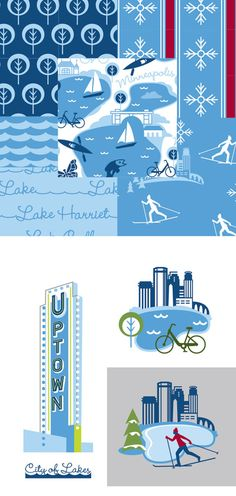 City of Lakes,by Cindy Lindgren for Modern Yardage