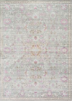 Bring in the trendy distressed look to your home with this Vintage Persian Rug. Machine made out of 100% polyester, this oriental patterned rug brightens up your area by lending an old-world charm to your room.