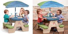 Step2 Sit & Play Jr. Picnic Table + Umbrella Only $35.39! Reg $70!!!